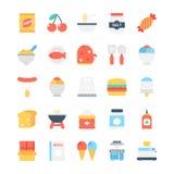 Kulöra vektorsymboler 2 för mat royaltyfri illustrationer