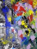 Kulört abstrakt illustrera för texturmålning arkivfoto