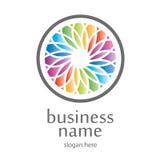 Befläckt logo stock illustrationer