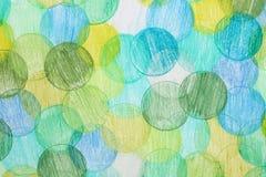 Kulört cirklar bakgrund Arkivbild