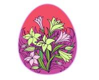 Kulört easter ägg med blommor Royaltyfri Bild