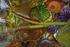 Kulört exponeringsglas Ceiling3 Arkivbild