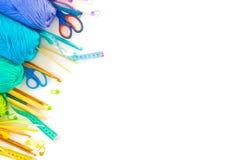 kulört garn för bollar ovanför sikt banret colors kurvillustrationingrepp ingen regnbågevektor vita All colo Arkivfoto