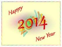 Kulört lyckligt nytt år 2014 Arkivbilder