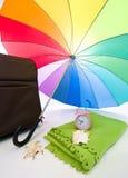 kulört mång- paraply Royaltyfri Bild