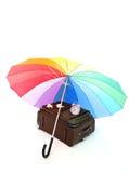 kulört mång- paraply Arkivbild