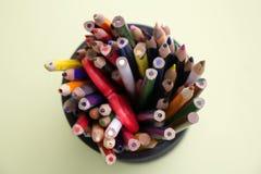 kulört olikt många blyertspennor Royaltyfri Fotografi