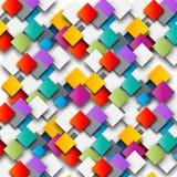 Kulört papper kvadrerar bakgrundsillustrationen royaltyfria foton