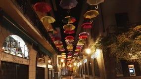 Kulört paraply Arkivbild