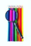 Färga ritar, förstoringsapparaten Fotografering för Bildbyråer