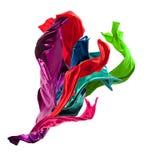 Kulört silke för abstrakt begrepp på vit bakgrund Arkivbilder