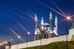 Kul谢里夫清真寺在喀山克里姆林宫,俄罗斯 免版税库存图片