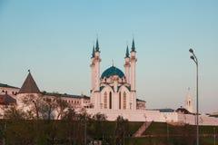 Kul谢里夫清真寺在喀山克里姆林宫,俄罗斯 免版税图库摄影