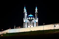 Kul谢里夫清真寺在喀山克里姆林宫 免版税图库摄影