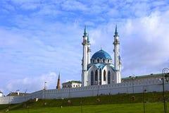 Kul谢里夫清真寺在喀山克里姆林宫 库存照片