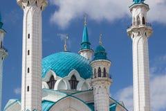 Kul谢里夫清真寺的塔 免版税图库摄影