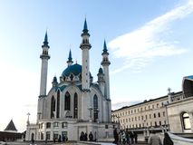 Kul谢里夫清真寺 俄国 城市喀山kul清真寺俄国sharif 图库摄影