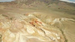 kul?ra rocks Flyget över rött vaggar bildande i sydliga berg Antennskott, 4K lager videofilmer