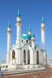 Kul Sharif清真寺在喀山克里姆林宫-俄国 库存照片