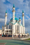 Kul Sharif清真寺 围绕喀山克里姆林宫的游览 鞑靼斯坦共和国 免版税库存图片