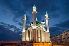 Kul Sharif清真寺 喀山克里姆林宫 图库摄影