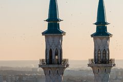 Kul Sharif清真寺 喀山市, 库存照片