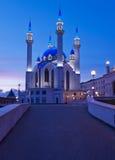 Kul Sharif moské i den Kazan Kreml på solnedgången. Ryssland. arkivbilder