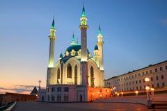 Kul-Sharif Mosque, april twilight. Kazan Kremlin, Tatarstan Royalty Free Stock Photos