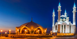 Kul Sharif mosque. On a background blue sky Stock Photography