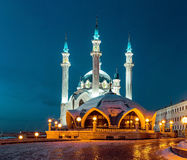 Kul Sharif mosque. On a background blue sky Stock Images