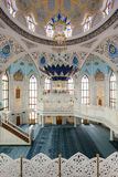 The Kul Sharif Mosque. Interior, it is a one of the largest mosques in Russia.  is located in Kazan city in Russia stock image