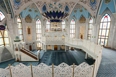 The Kul Sharif Mosque. Interior, it is a one of the largest mosques in Russia.  is located in Kazan city in Russia royalty free stock photos