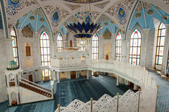 The Kul Sharif Mosque. Interior, it is a one of the largest mosques in Russia.  is located in Kazan city in Russia royalty free stock images