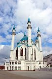 The Kul Sharif mosque in Kazan. On a background cloudy sky Stock Images