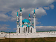 The Kul Sharif mosque of Kazan city in Russia. Magnificent mosque Kul Sharif in city of Kazan. One of the most beautiful and most northern mosques of the world Stock Photography