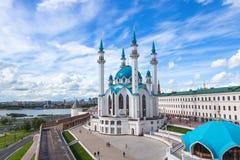 Kul Sharif Mosque in Kazan het Kremlin Één van grootste moskees i stock afbeelding