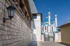 Kul Sharif Mosque in Kazan het Kremlin De Plaats van de Erfenis van de Wereld van Unesco Stock Afbeelding