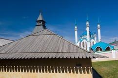 Kul Sharif Mosque in Kazan het Kremlin De Plaats van de Erfenis van de Wereld van Unesco Royalty-vrije Stock Foto