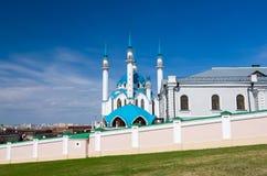 Kul Sharif Mosque in Kazan het Kremlin De Plaats van de Erfenis van de Wereld van Unesco Royalty-vrije Stock Foto's