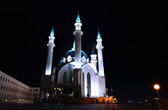 Kul-Sharif mosque in Kazan Kremlin at night Royalty Free Stock Images