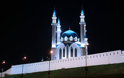 Kul-Sharif mosque in Kazan Kremlin at night Stock Image
