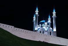 Kul-Sharif mosque in Kazan Kremlin at night Stock Photos