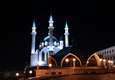 Kul-Sharif mosque in Kazan Kremlin at night Royalty Free Stock Photography