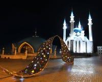 Kul sharif mosque in kazan kremlin at night Royalty Free Stock Images