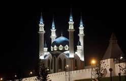 Kul Sharif Mosque in the Kazan Kremlin Royalty Free Stock Images