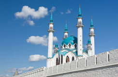 Kul Sharif mosque. In Kazan Kremlin - Russia stock photography