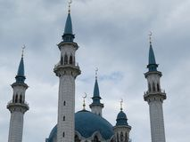 The main mosque of Kazan Kul Sharif in the Kremlin stock photos
