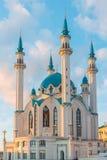 Kul-Sharif mosque in Kazan Kremlin At sunset in Tatarstan, Russia. Kul-Sharif mosque in Kazan Kremlin in Tatarstan, Russia royalty free stock image