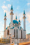 Kul-Sharif mosque in Kazan Kremlin in Tatarstan, Russia. At sunset. Kul-Sharif mosque in Kazan Kremlin in Tatarstan, Russia stock photo
