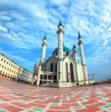Kul sharif mosque in kazan russia. Fisheye stock photo
